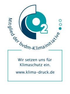 Logo Bvdm Stern'sche Druckerei Mitglied der Klimaschutz-Initiative