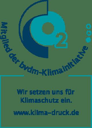 Logo bvdm Mitglieder der bvdm-Klimainitiative