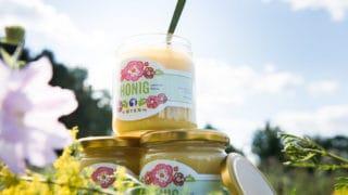 Drei Gläser Honig aus Lüneburg von der umweltfreundlichen Druckerei von Stern'sche Druckerei Lüneburg