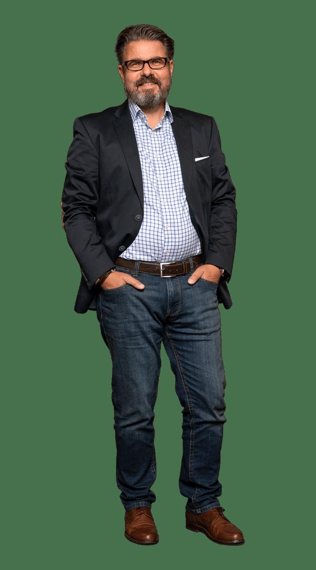 Klaus-Peter Stelter Leiter Finanz- und Rechnungswesen in Arbeitskleidung bei von Stern'sche Druckerei