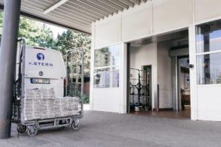 Logistik Ausgang bei der Von Stern'sche Druckerei in Lüneburg
