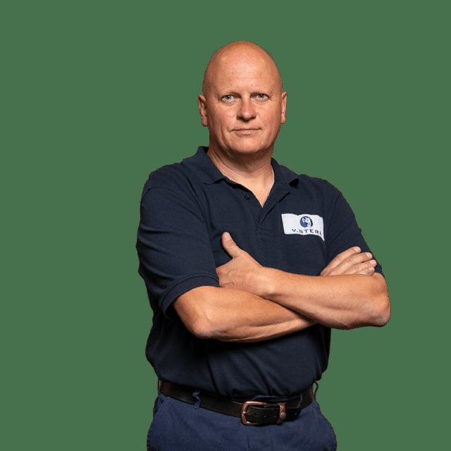 Ulli Kößler Teamleitung Rotation in Arbeitskleidung bei von Stern'sche Druckerei