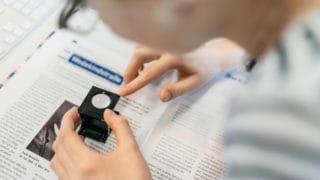 Prepress Vorstufe Kontrolle der Textfarbe bei von Stern'sche Druckerei Lüneburg