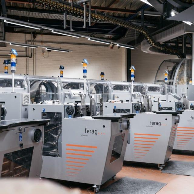 Zeitungsdruck Druckmaschinen von ferag bei der Druckerei von Stern'sche